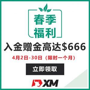 XM交易平台2021春季福利